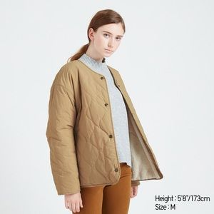 WOMEN Pile Lined Fleece Quilted Reversible Jacket